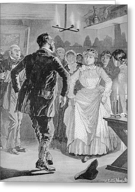 The Gamekeepers Party, From The Illustrated London News, 3rd June 1886 Engraving Greeting Card