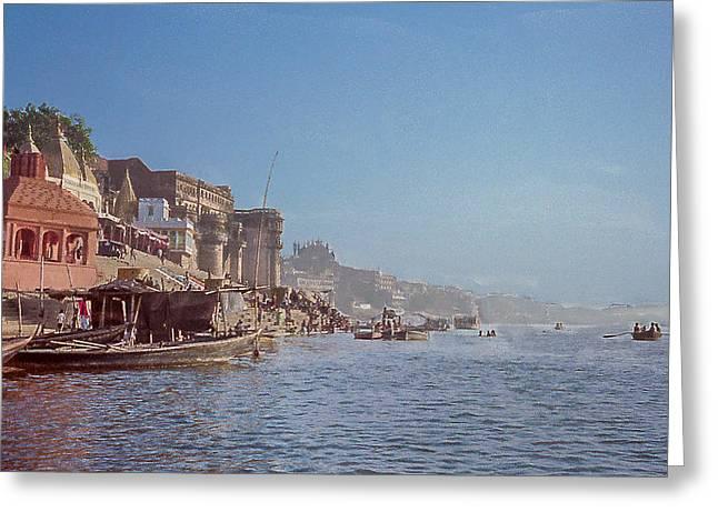 The Ganges River At Varanasi Greeting Card