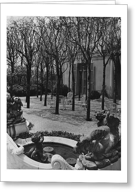 The Garden Of A Home In Meridian Hill Greeting Card