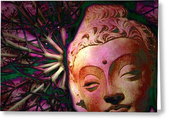 The Garden Of Buddha Greeting Card by Martine Jacobs