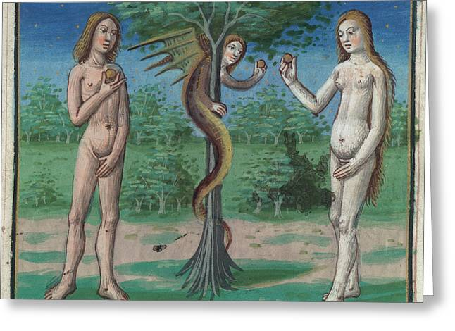 The Garden Of Eden Greeting Card by British Library