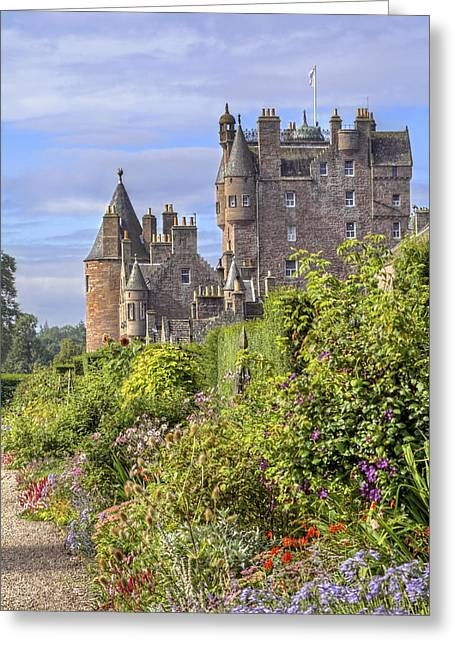 The Garden Of Glamis Castle Greeting Card