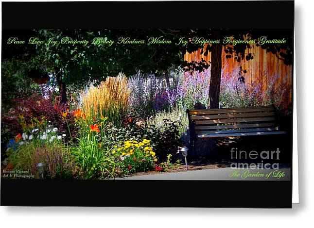 The Garden Of Life Greeting Card by Bobbee Rickard