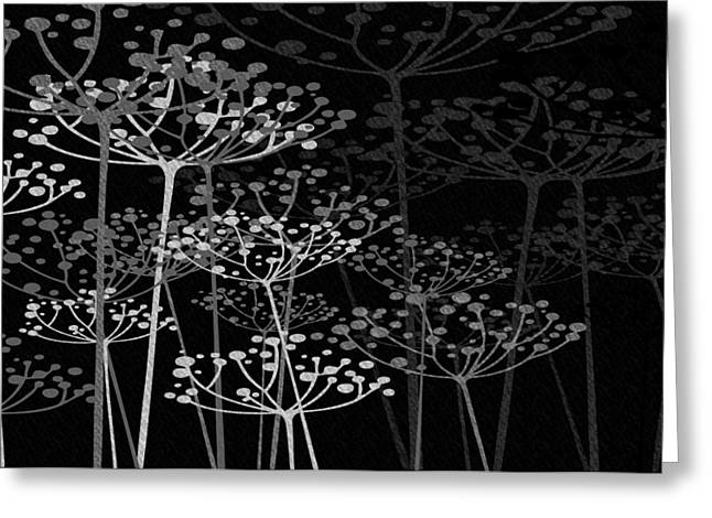 The Garden Of Your Mind Bw Greeting Card
