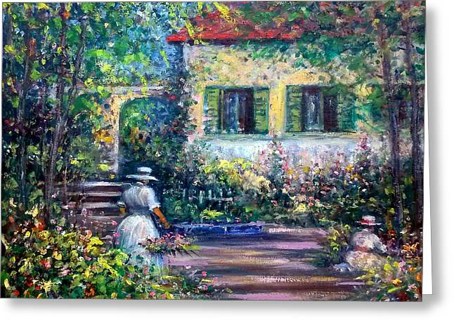 The Garden Greeting Card by Philip Corley