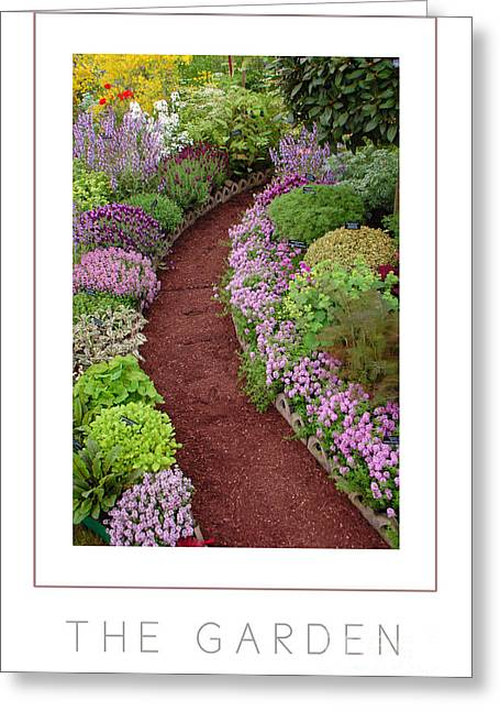 The Garden Poster Greeting Card by Mike Nellums