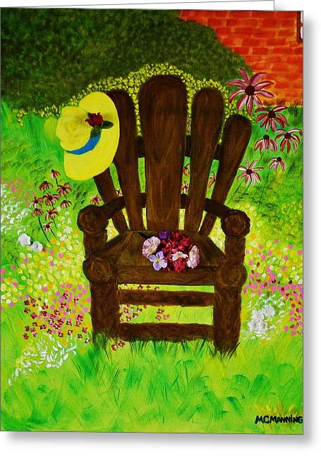 The Gardener's Chair Greeting Card