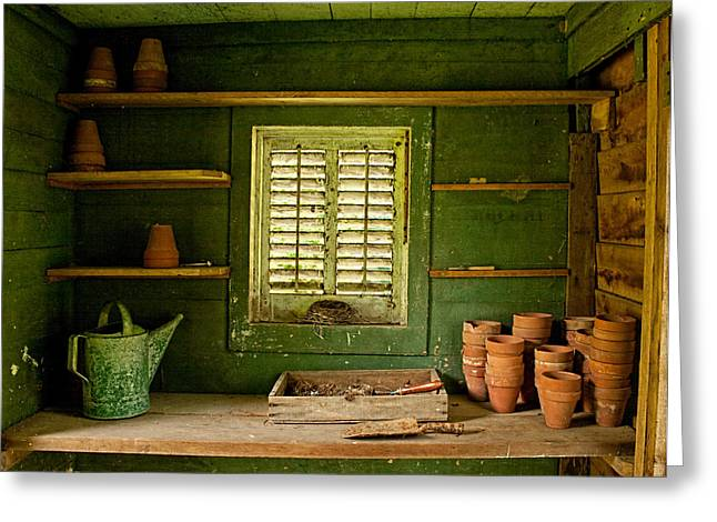 The Gardener's Shed Greeting Card