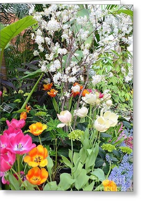 The Gardens Greeting Card by Kathleen Struckle