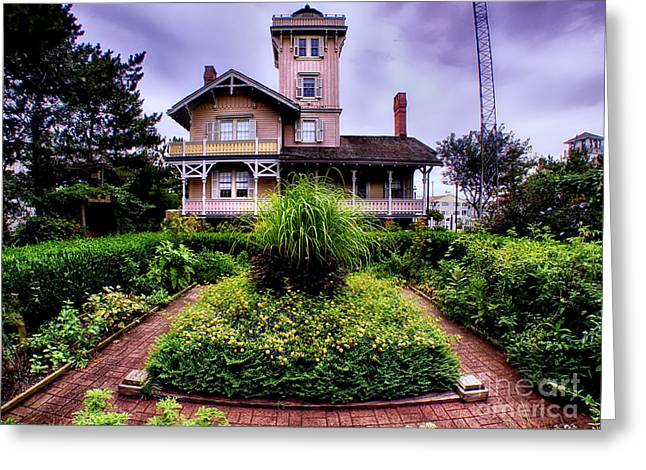 The Gardens Of Hereford Inlet Lighthouse Greeting Card