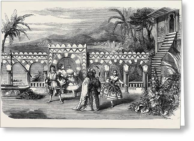 The Gardens Of The Palace Of The Dey Of Algiers A Scene Greeting Card