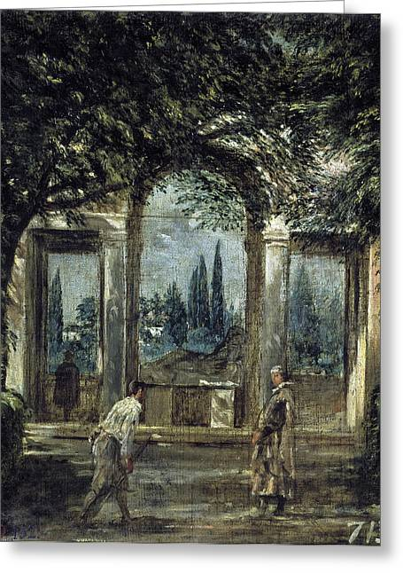 The Gardens Of The Villa Medici In Rome Greeting Card by Diego Velazquez