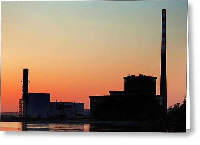 The Gas-fired Combined Cycle Gas Greeting Card by Panoramic Images