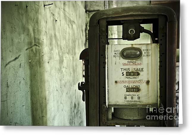 The Gas Pump  Greeting Card by Jessica Berlin