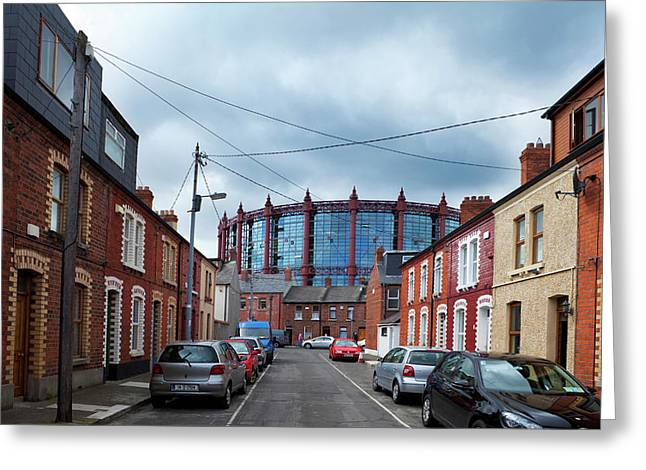 The Gasometer, Now Converted Greeting Card by Panoramic Images