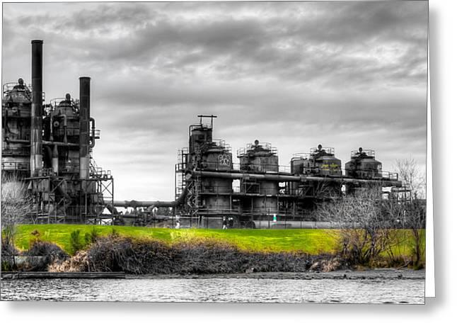 The Gasworks Park On Lake Union - Seattle Washignton Greeting Card