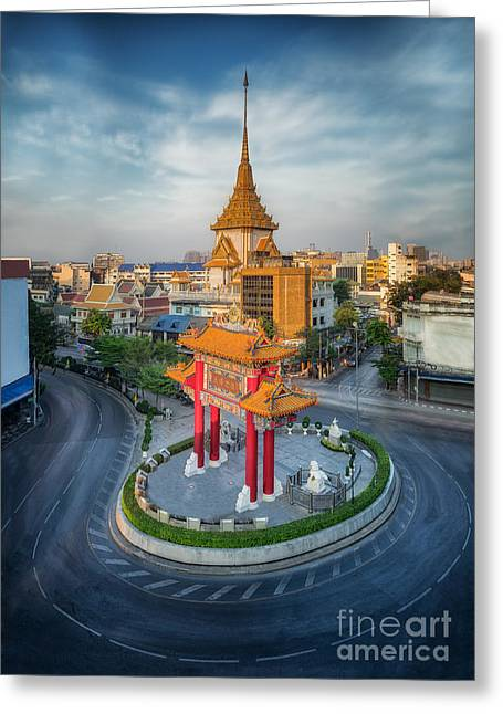 The Gateway Arch Odeon Circle  Greeting Card by Anek Suwannaphoom
