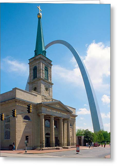 The Gateway Arch Saint Louis Greeting Card by Unknow Artist