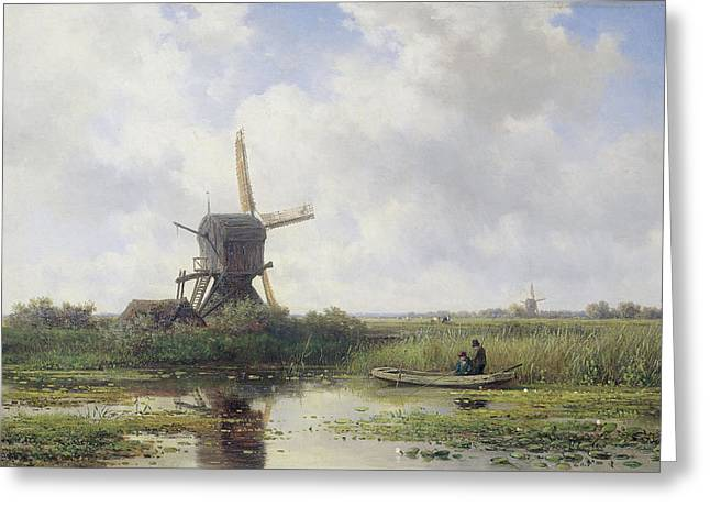The Gein River, Near Abcoude, The Netherlands Greeting Card by Litz Collection