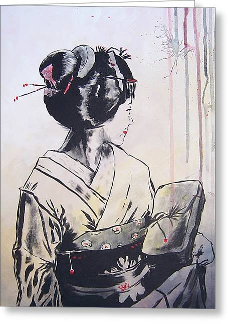 The Geisha Greeting Card