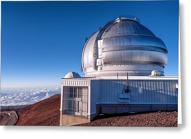 Greeting Card featuring the photograph The Gemini Observatory by Jim Thompson