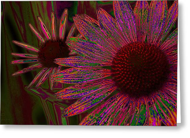 The General Cone Flower Back In The Day Greeting Card