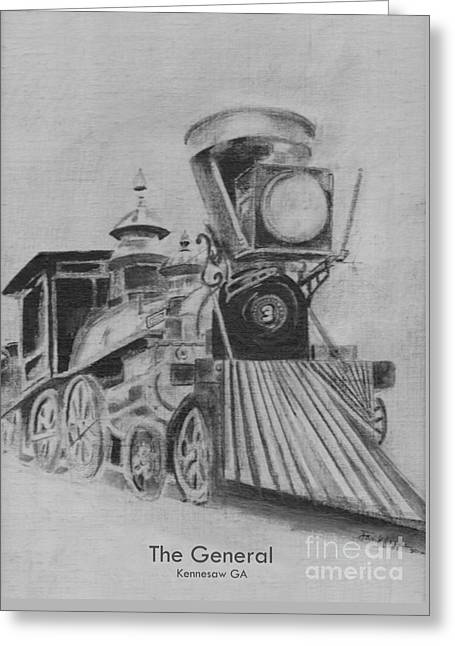 The General - Train - Big Shanty Kennesaw Ga Greeting Card