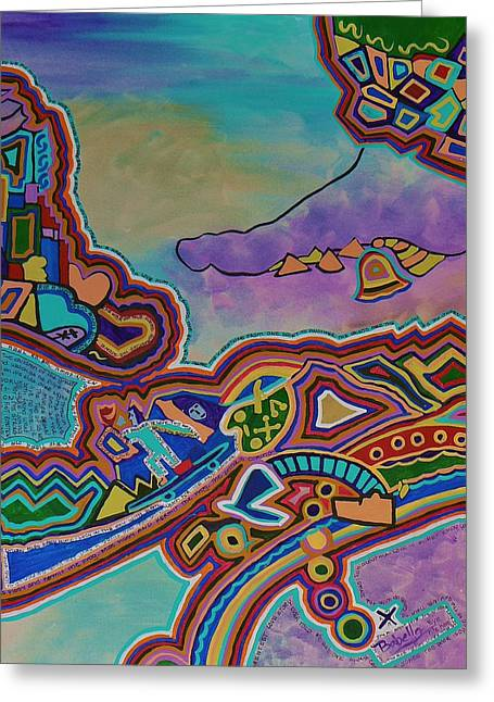 The Genie Is Out Of The Bottle Greeting Card by Barbara St Jean