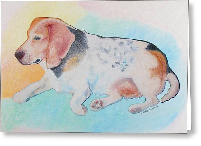 Greeting Card featuring the painting The Gentle Leader by KLM Kathel