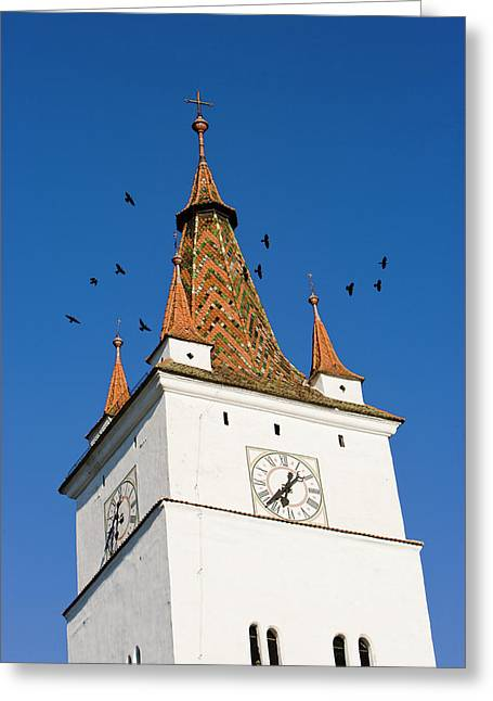 The German Fortified Church Of Harman Greeting Card