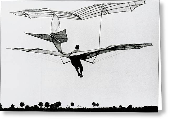 The German Glider Pioneer Otto Lilienthal Greeting Card