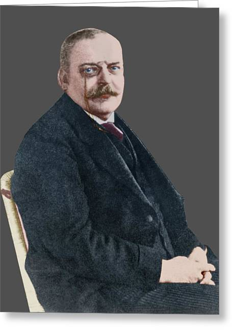 The German Psychiatrist Alois Alzheimer Greeting Card by National Library Of Medicine