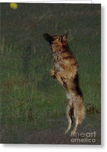 The German Shepherd Great Dog Greeting Card by Manjot Singh Sachdeva
