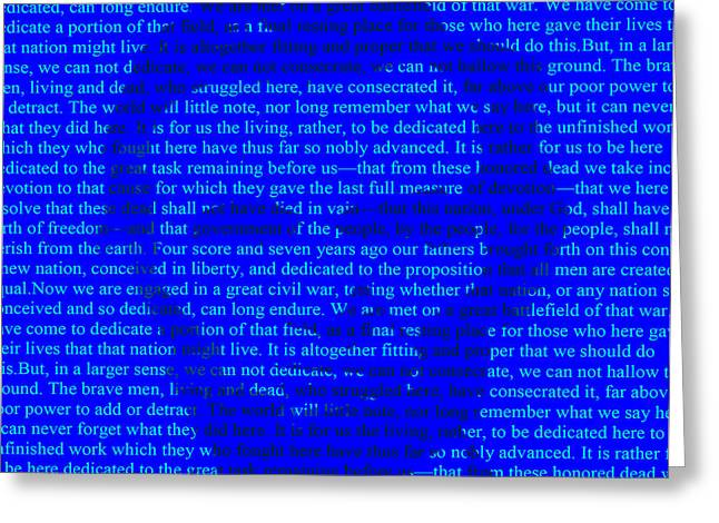 The Gettysburg Address Greeting Card