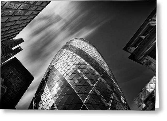 The Gherkin - London. Greeting Card by Ian Hufton