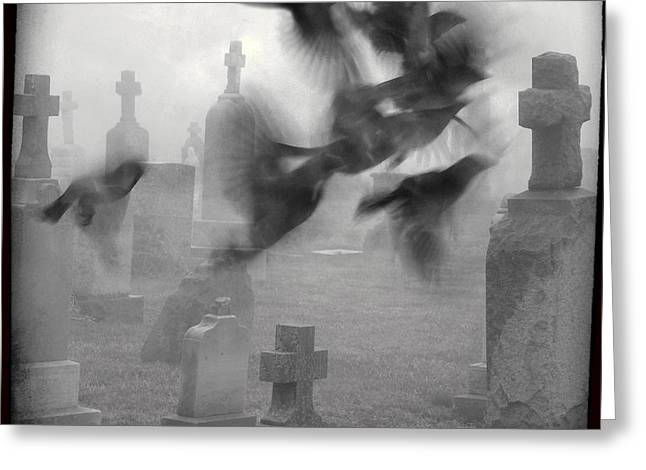 The Ghost Birds Greeting Card by Gothicrow Images