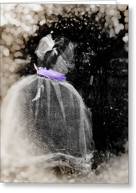 The Ghost In The Garden Greeting Card by Image Takers Photography LLC - Carol Haddon