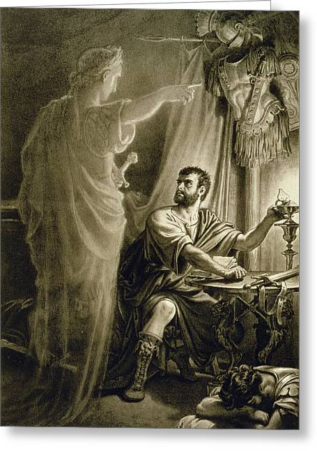 The Ghost Of Julius Caesar, In The Play Greeting Card by English School