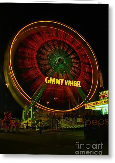 The Giant Wheel Spinning  Greeting Card