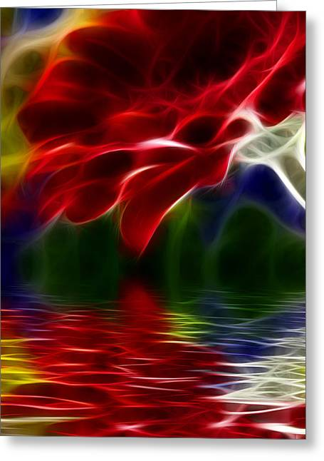 Greeting Card featuring the digital art The Gift by Karen Showell