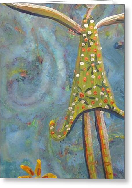 The Girl Greeting Card by Cherie Sexsmith
