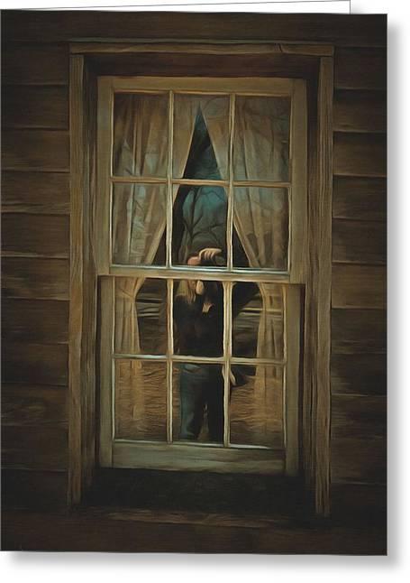 The Girl In The Window  Greeting Card
