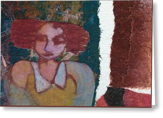 Greeting Card featuring the mixed media The Girl Waits by Catherine Redmayne