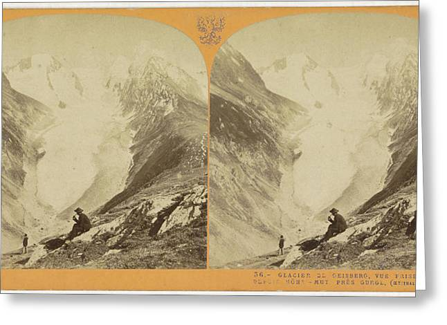 The Glacier Geisberg, Vue Prize Depuis Hohe-mut Greeting Card by Quint Lox