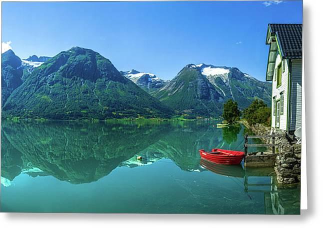 The Glacier Lake Greeting Card