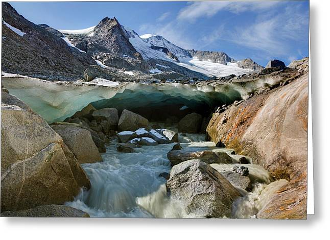 The Glacier Snout With Ice Cave Greeting Card