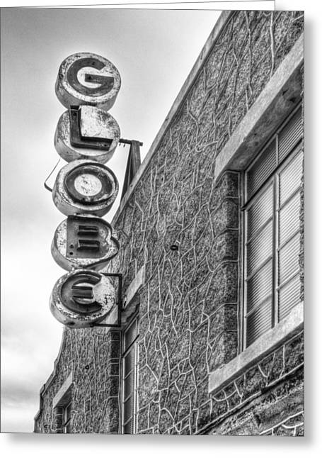 The Globe Movie Theater Greeting Card by David and Carol Kelly