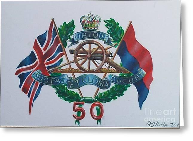 The Glorious 50 Greeting Card by Richard John Holden RA