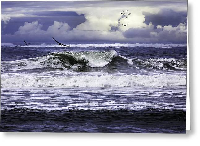 The Glory Of Morning On The Oregon Coast Greeting Card
