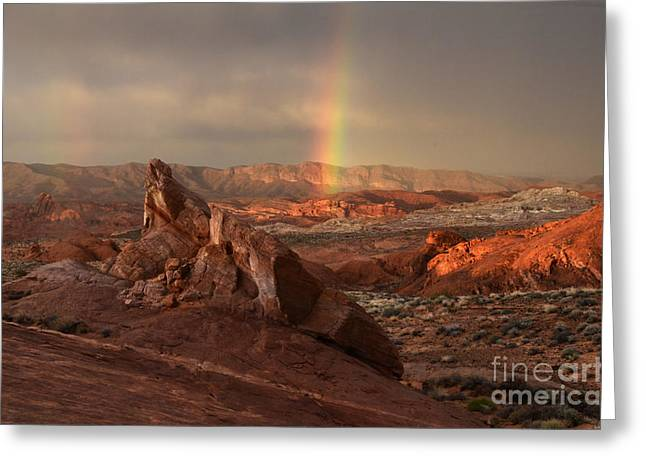 The Glory Of Sandstone Greeting Card by Bob Christopher